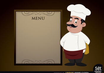Menu template with Chef - Free vector #180565