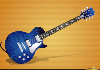Blue electric guitar instrument - vector gratuit #180865