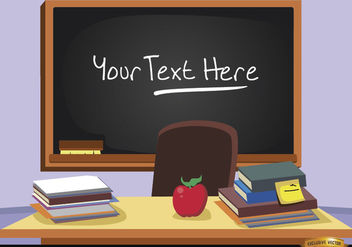 Blackboard in classroom with text - vector gratuit #180875