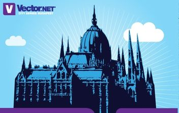 Budapest Parliament Vector - Kostenloses vector #181235
