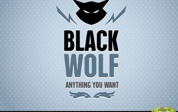 Black Wolf Abstract Animal Logo - Free vector #181245