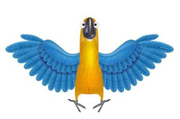 Funky Parrot with Detailed Wings - Free vector #181295