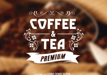 Ornamented Vintage Coffee Logo - vector gratuit #181355