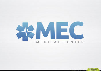 Asterisk Heartbeat Line Medical Logo - Kostenloses vector #181395