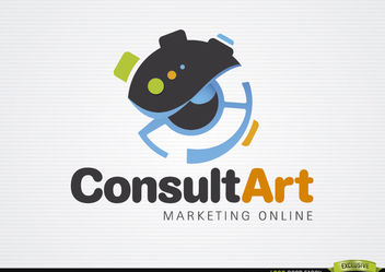 Consult art marketing logo - Free vector #181405