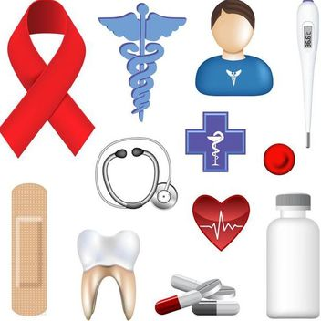 Surgery Tools Medicine and Equipment Icons - vector gratuit #181745