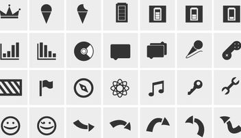 Simple Black & White Web Icon Pack - vector gratuit #181765