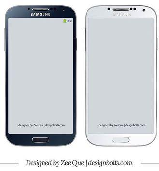Samsung Galaxy S4 Mockup - Free vector #181855