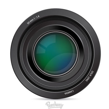 Glossy Realistic DSLR Camera Lens - Free vector #181995