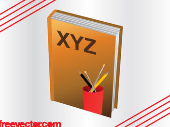 3D Book with Pencil Cup - Free vector #182135