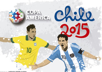 Messi & Neymar Chile 2015 - Free vector #182185