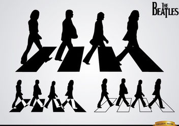 The Beatles Abbey Road silhouettes - vector gratuit #182345