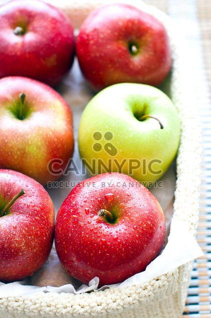 Fresh apples in basket - Free image #182735