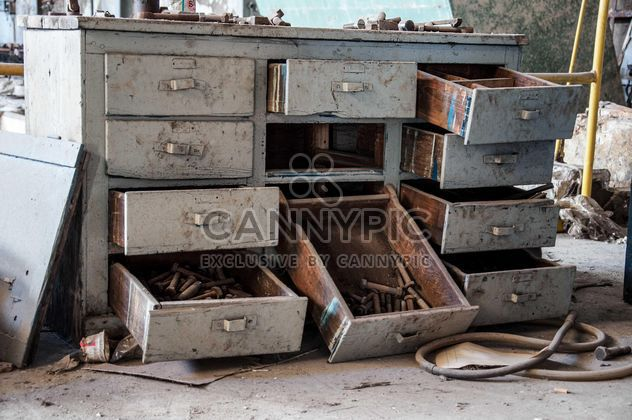 Drawers in abandoned building - Free image #182975