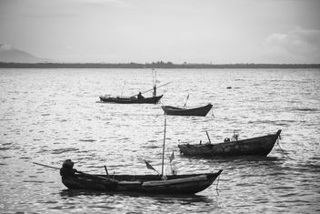 Fisherboats on the water - image #183385 gratis