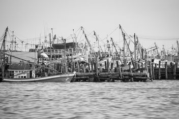 Fisherboats on the water - image #183415 gratis