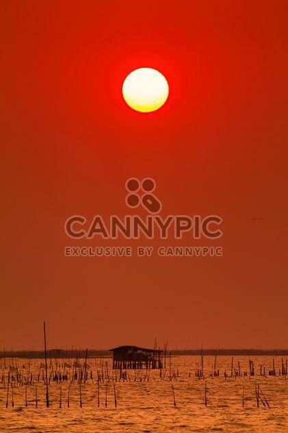 Coucher de soleil rouge - Free image #183515