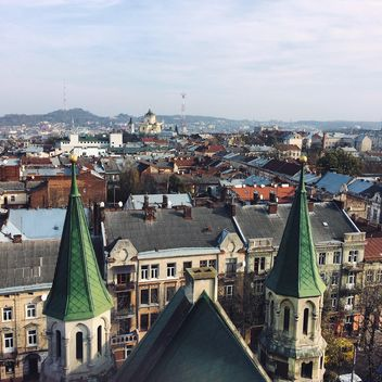 View on roofs of Lviv - бесплатный image #183535