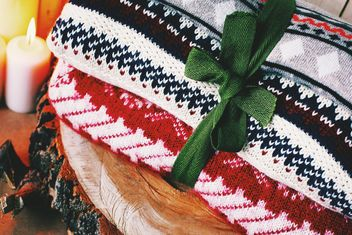 Close-up of wool sweaters - image #183735 gratis