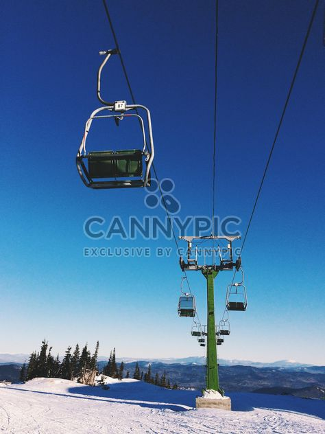 Cableway in winter mountains - Free image #183975