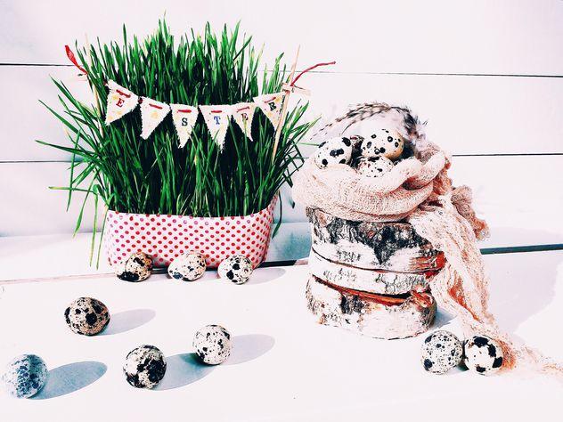 Easter quail eggs - Free image #184235