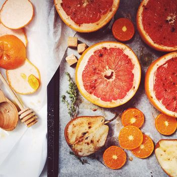 Lobules of grapefruit - image #184425 gratis