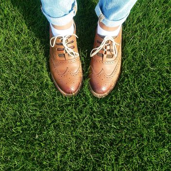 Shoes on a grass - image #184575 gratis