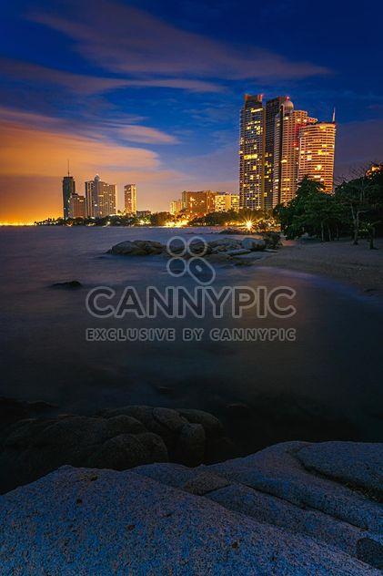 Паттайя пляж ночью - бесплатный image #186105