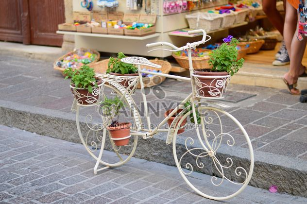 Decorative bike with flowers - Free image #186265