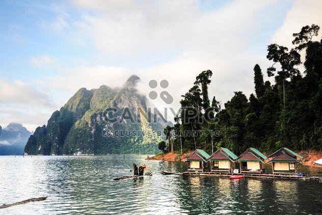 Ratchaprapha dam,boathouse mountains - Free image #186505