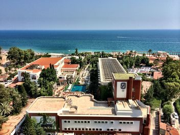 Area of hotel on seashore, Antalya - бесплатный image #186665