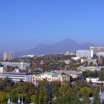 View on city Pyatigorsk and mountain Beshtau - image gratuit(e) #186725