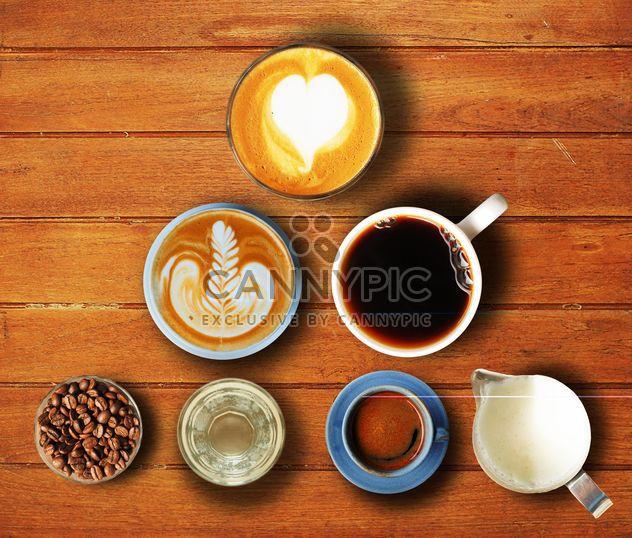 Satz von Kaffee - Kostenloses image #186985