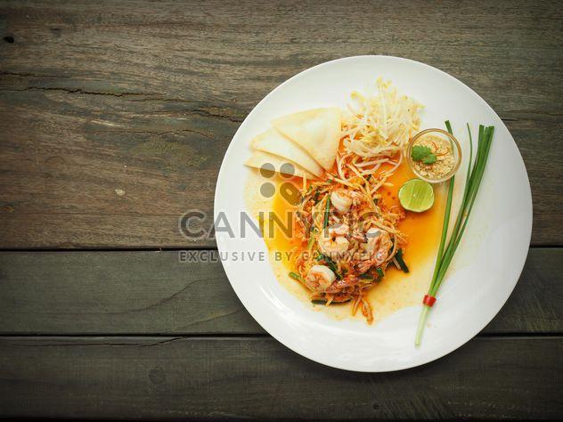 Тайский стиль лапша, Pad тайский - бесплатный image #187045