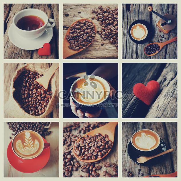 Collage aus Fotos mit Kaffee, Vintage color - Free image #187095