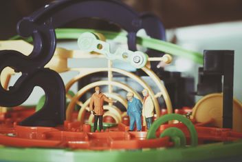 Miniature people engineering and workers - Free image #187125