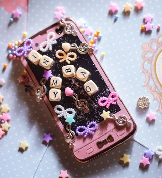 Smartphone with decorative elements - image #187245 gratis