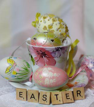 Easter eggs alphabet squares - image gratuit #187465
