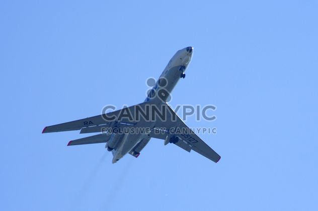 Airplane in blue sky - Free image #187755