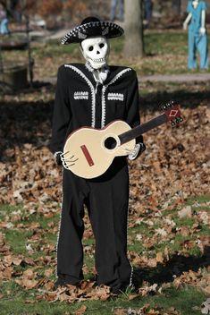 Skeleton Mariachi on halloween 2014 - Free image #187835
