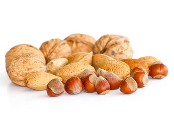 Nuts in Shells isolated on white - бесплатный image #187845