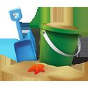 Beach Bucket - Free icon #189285