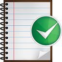 Notes Accept - icon gratuit #190515