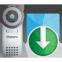 Video-Kamera nach unten - Kostenloses icon #190535