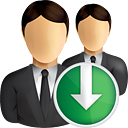 Business Users Down - icon gratuit #190835