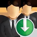 usuarios de negocios abajo - icon #190835 gratis