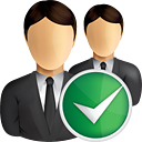 Business Users Accept - icon gratuit(e) #191065