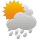 lluvia de sol de las nubes - icon #191975 gratis