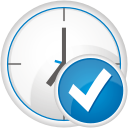 Clock Accept - Free icon #192435