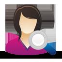 Search Female User - Free icon #193075
